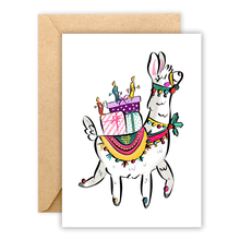 Load image into Gallery viewer, Festive Llama • Greeting Card