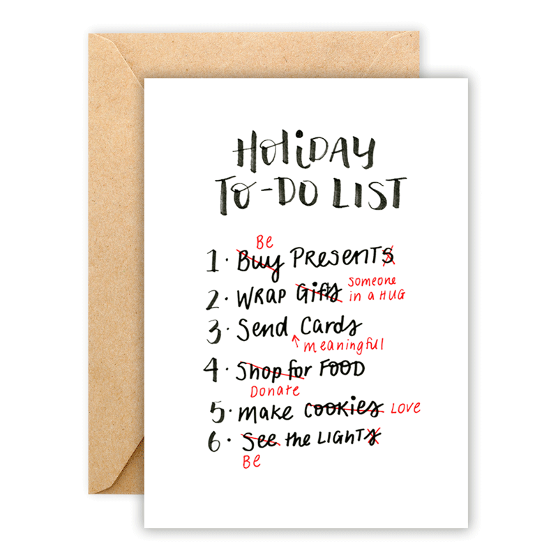 Holiday To-Do List • Greeting Card