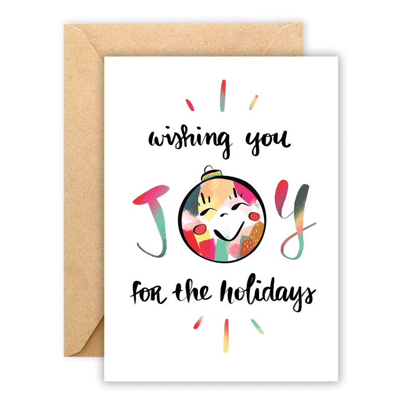 Wishing You Joy • Greeting Card