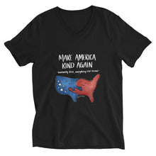 Load image into Gallery viewer, Make America Kind Again • Unisex V-Neck T-Shirt