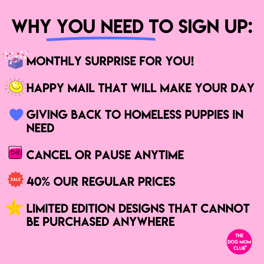 SIGN UP IS CLOSING SOON // Momma Mystery Merch Club! Monthly Happy Mail Benefitting Puppies In Need <3