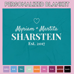 Personalized Couple Blanket // This Blanket Benefits Special Rescue Puppies In Need <3