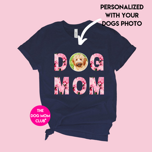 Personalized Floral Dog Mom - Unisex Crewneck