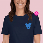 Embroidered Heart Nosed Pittie // This Tee Benefits Elderly Puppies <3