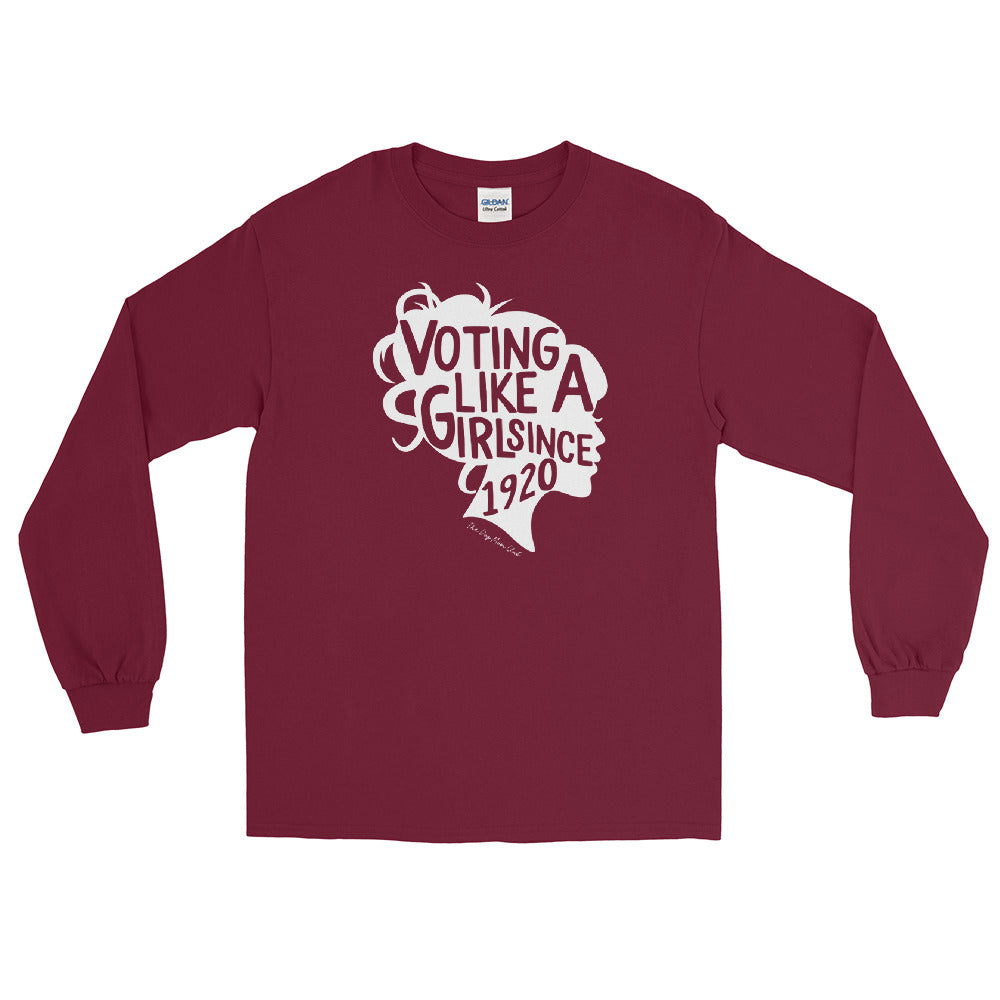 Voting Like A Girl Since 1920 // This Long Sleeved Tee Helps Elderly Puppies <3