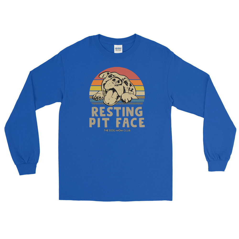 Resting Pit Face // This Long Sleeved Shirt Benefits Elderly Puppies <3