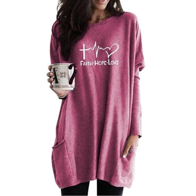 Faith. Hope. Love. Sweater Dress