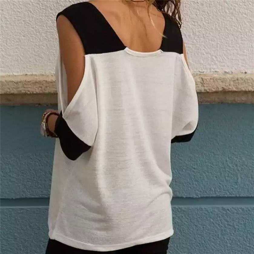 Jesus Cross Cold Shoulder V Neck Tee