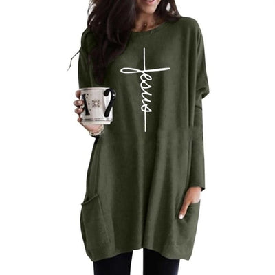 Jesus Cross Sweater Dress
