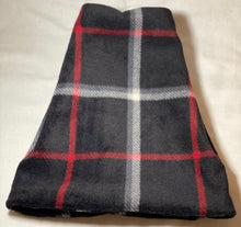 Load image into Gallery viewer, Black Plaid Fleece Hat