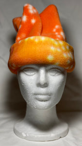 Orange Stars Fleece Hat