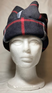 Black Plaid Fleece Hat