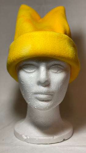 Yellow Dye Fleece Hat