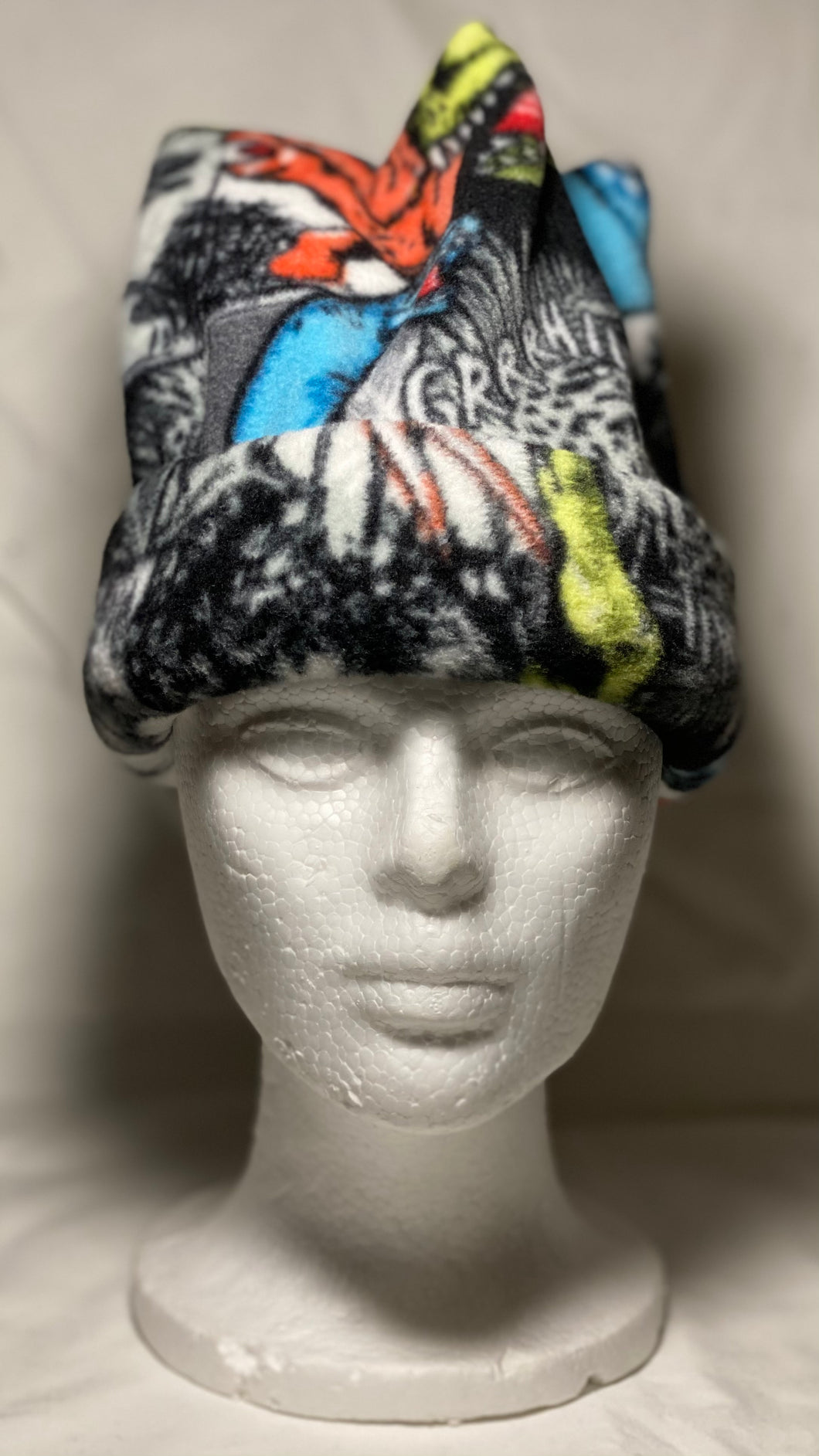 Dino Comic Fleece Hat