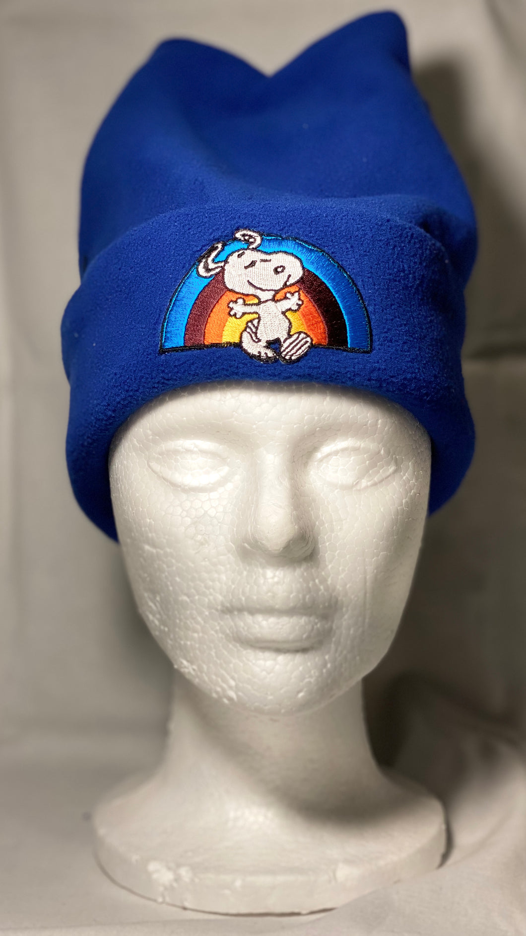 Rainbow Snoopy Fleece Hat