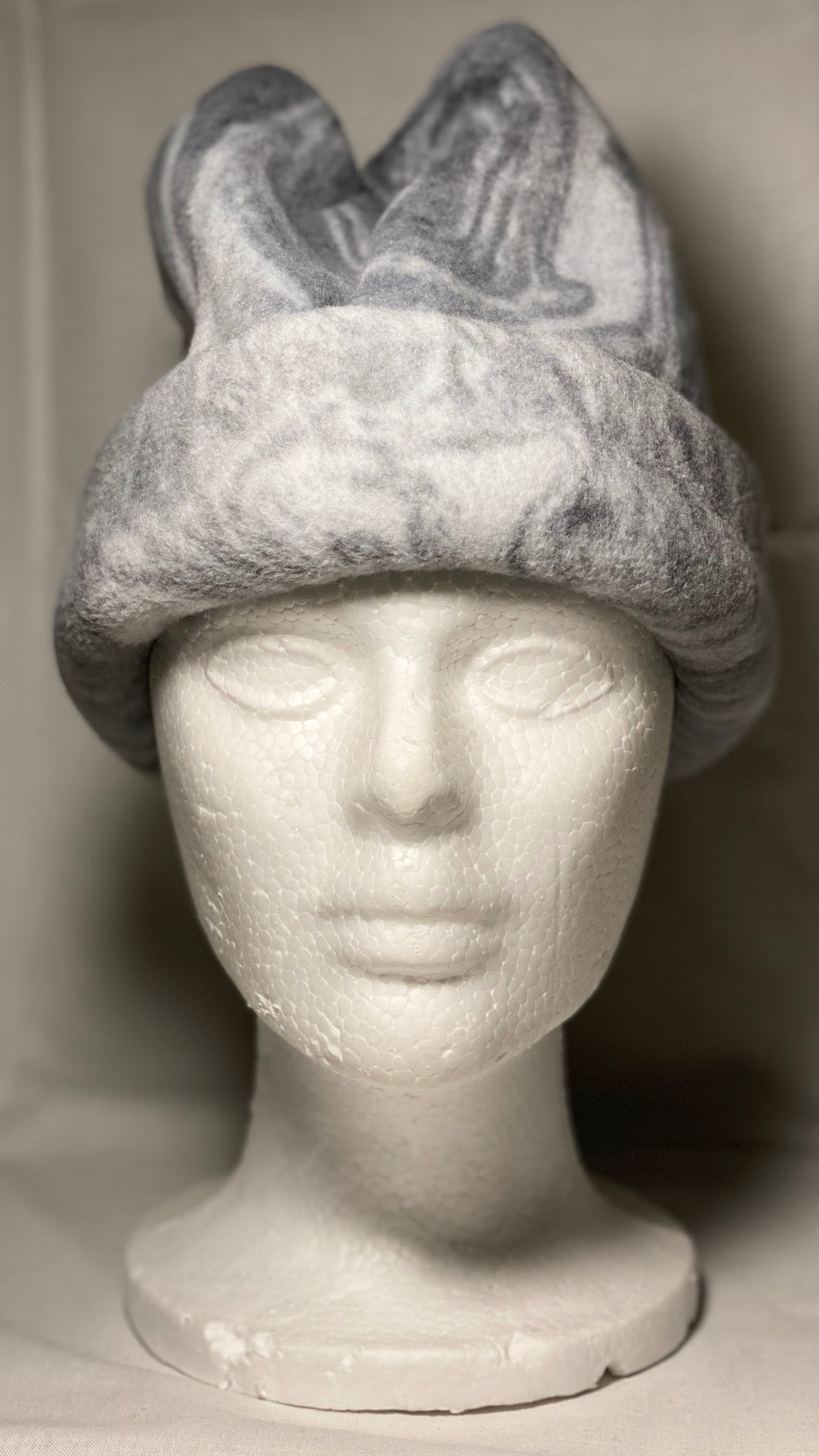 Grey Swirl Fleece Hat