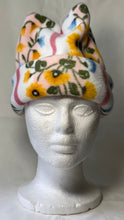 Load image into Gallery viewer, White Floral Fleece Hat