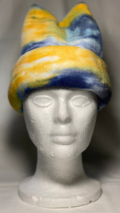 Yellow/Blue Watercolor Fleece Hat