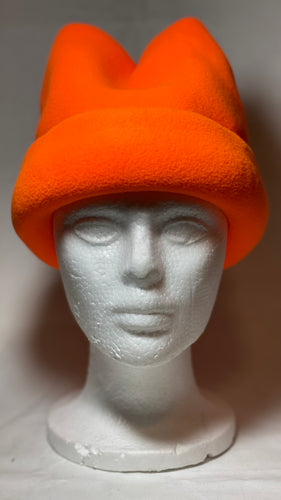 Hunting Orange Fleece Hat