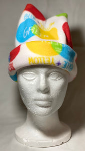 Color Circles Fleece Hat