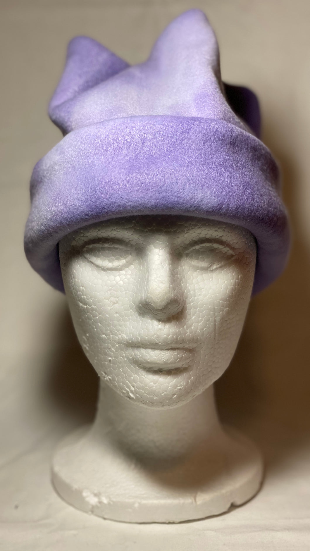 Purple Dye Fleece Hat