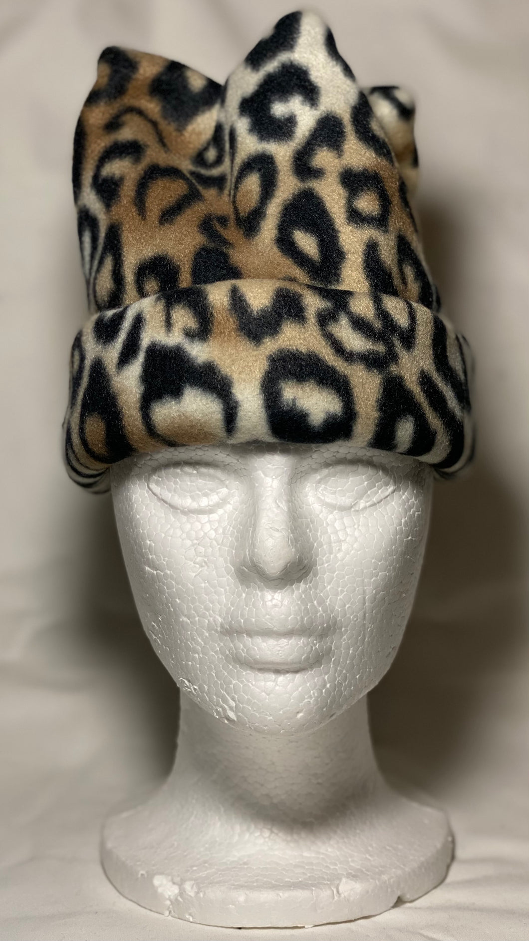 Cheetah Fleece Hat