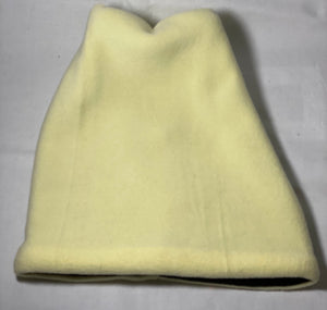 Pale Yellow/Black Fold Fleece Hat