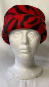 Red Zebra CT Fleece Hat