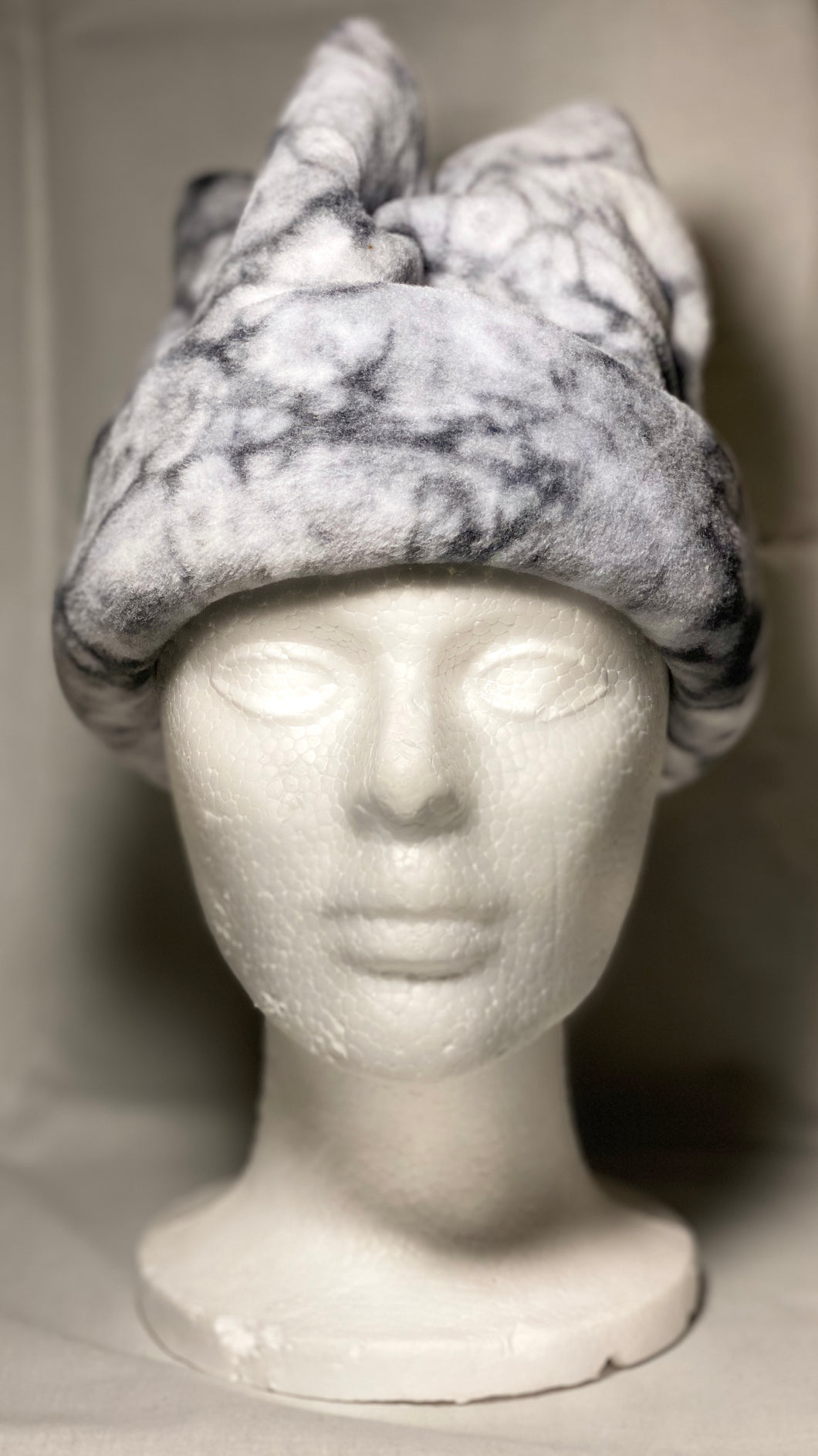 Black Marble Fleece Hat