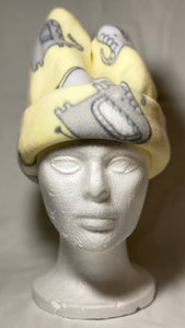 Yellow Elephant Fleece Hat