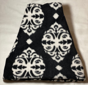 Black & White Embellish Fleece Hat