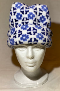 Blue Daisy Fleece Hat