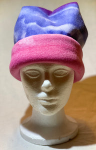 Pink Blue Fade Fleece Hat