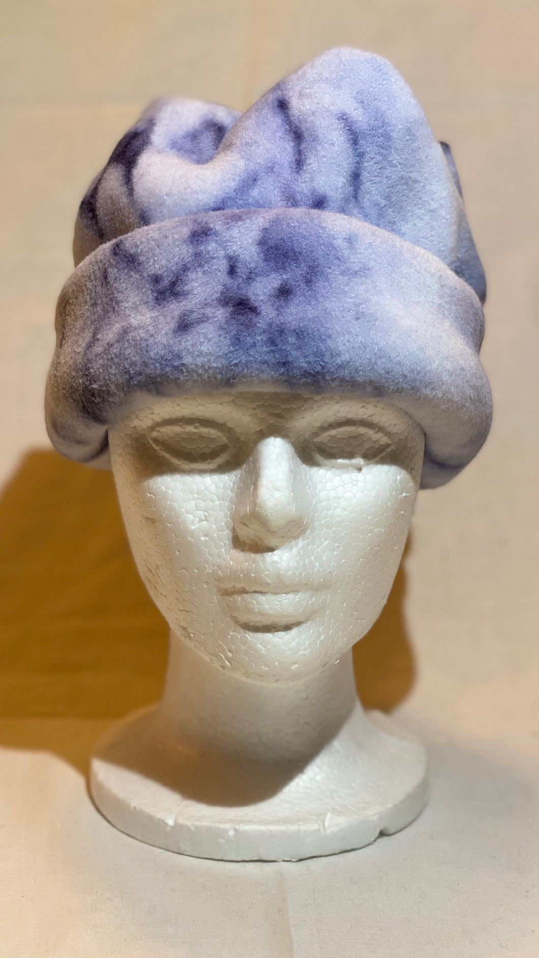 Navy Marble Fleece Hat