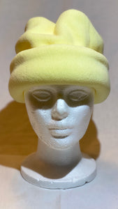 Pale Yellow Fleece Hat