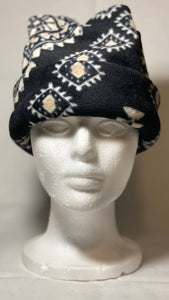 Black Aztec Fleece Hat