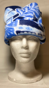 Blue Leaf Fleece Hat