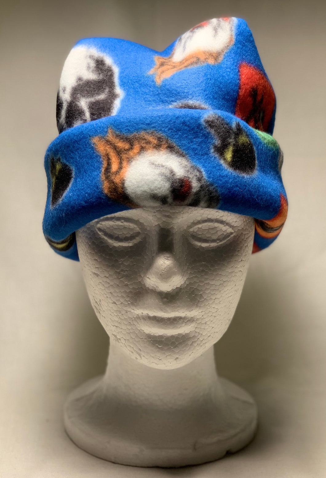 Blue Skulls Fleece Hat