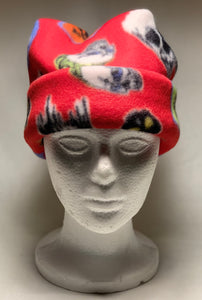 Red Skulls Fleece Hat