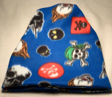 Load image into Gallery viewer, Blue Skulls Fleece Hat