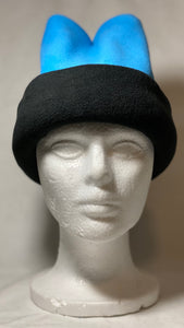 Sky Blue/Black Fold Fleece Hat
