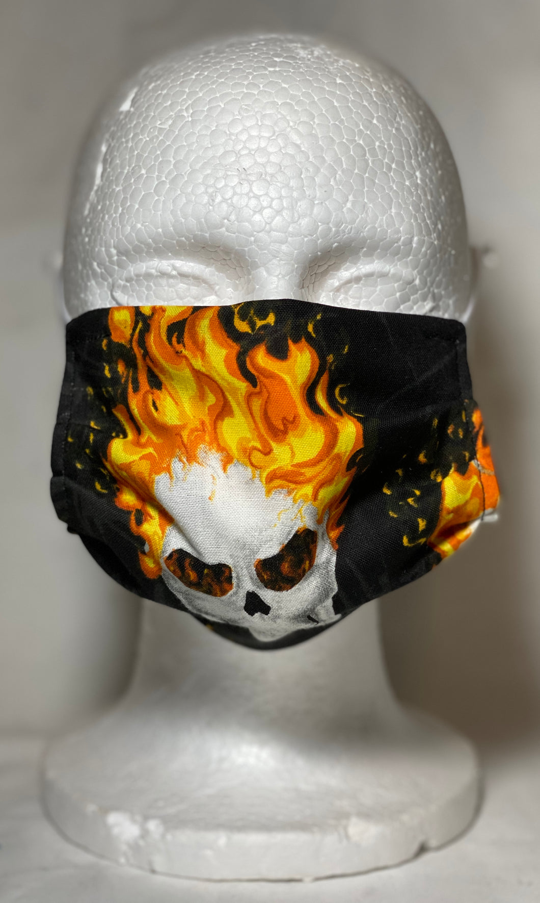 Flaming Skull Mask