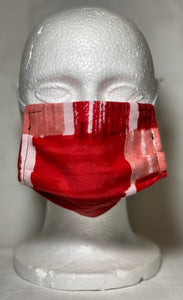 Red Abstract Mask