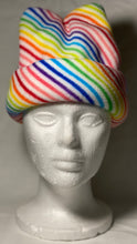 Load image into Gallery viewer, Rainbow Lines Fleece Hat