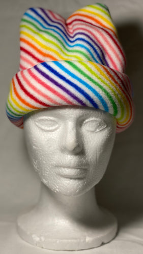 Rainbow Lines Fleece Hat