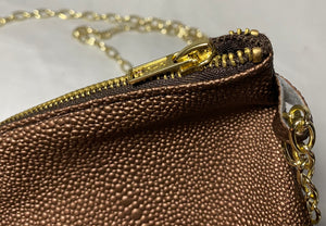 Gold Gator Handbag