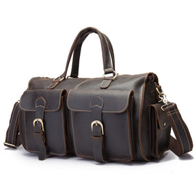 The Pilgrim Leather Barrel Bag