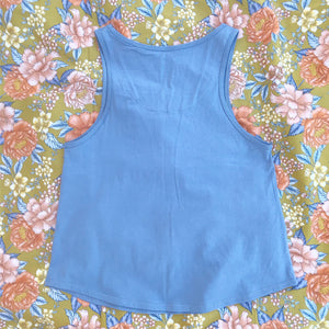 KEALIA Cotton Singlet in SKY