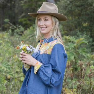 KOLOA Denim Shirt in mustard - Farm Gypsy