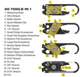 20 in 1 Keychain Tool - Uber Survival